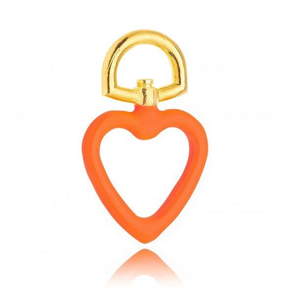 Pingente Gazin Coração Esmaltado Color Banhado a Ouro 18K 00012706