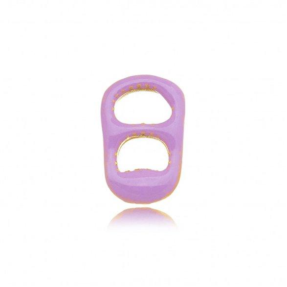 Pingente Mini Lacre Gazin Esmaltado Color Banhado a Ouro 18K 00012952