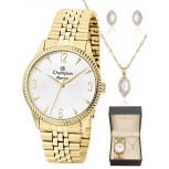 kit Relógio Champion Feminino Elegance + Semi Joias CN26073W