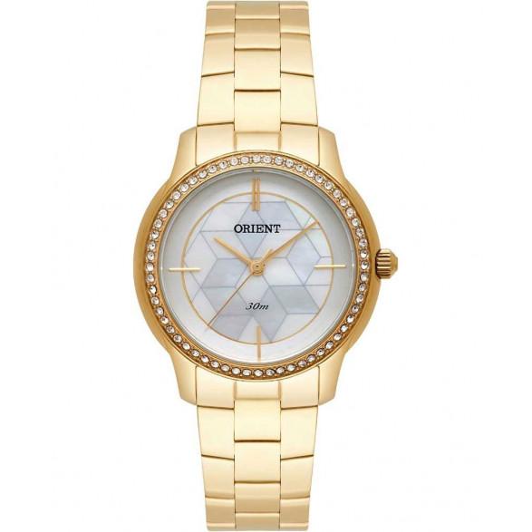 Relógio Orient Dourado Cristais Swarovski FGSS0111 B1KX FGSS0111