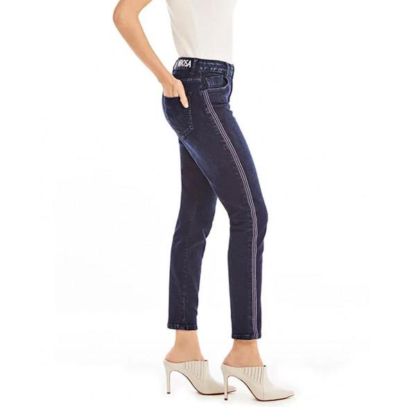 Calca Jeans Morena Rosa Slim Cropped Giane Detalhe Galao 10000204181000