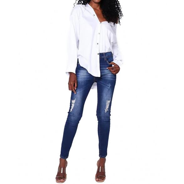 Calça Jeans John John Midi Skinny Curta Vichy Feminina 18.09.3146